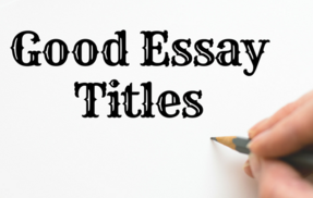 Post good essay titles
