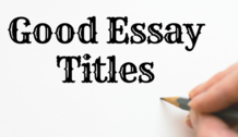 Slide good essay titles