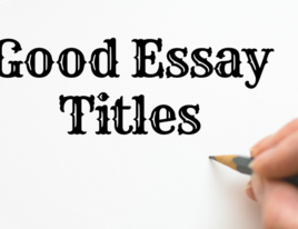 Topic good essay titles